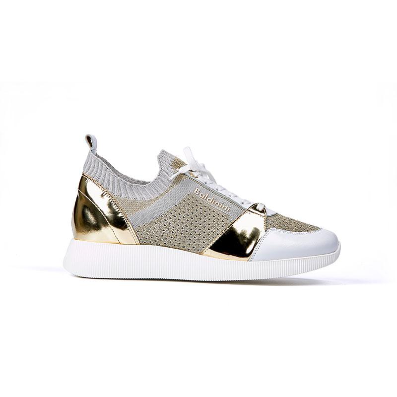 Schuh Gold weiß Baldini